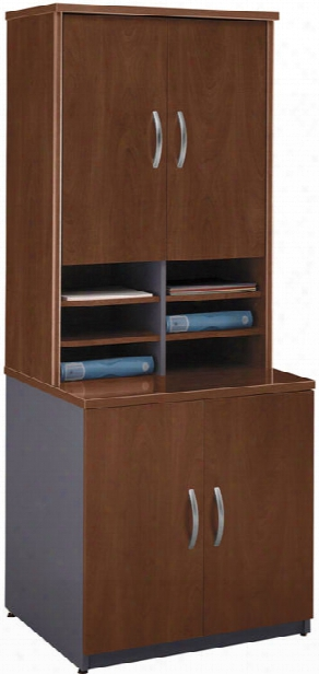 Storage Cabinet With Hutch By Bush
