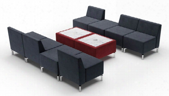 Straight Straight 2 Tables Configuration Lounge By Woodstock