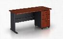 "60"" Desk with Pedestal by Bush"