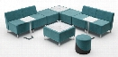 L Shape 2 Tables Configuration Lounge by Woodstock