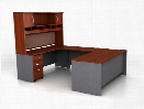 U Shaped Desk with Hutch by Bush
