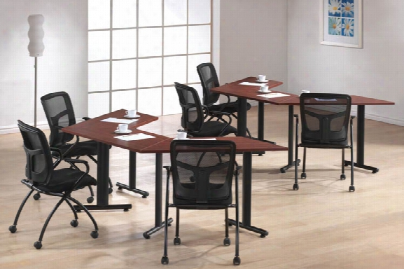"Trapezoid Top Training Tables 48"" X 30"" (6) By Office Source"