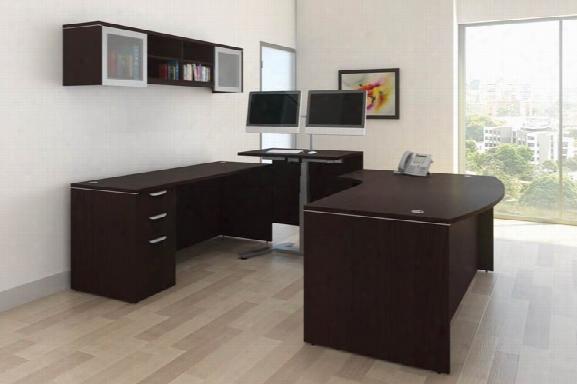 U Shape Standup Desk Set By Office Source