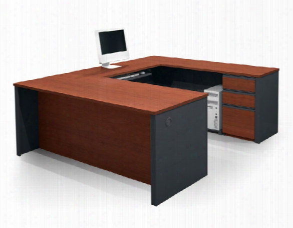U Shaped Desk With 2 Pedestals By Bestar