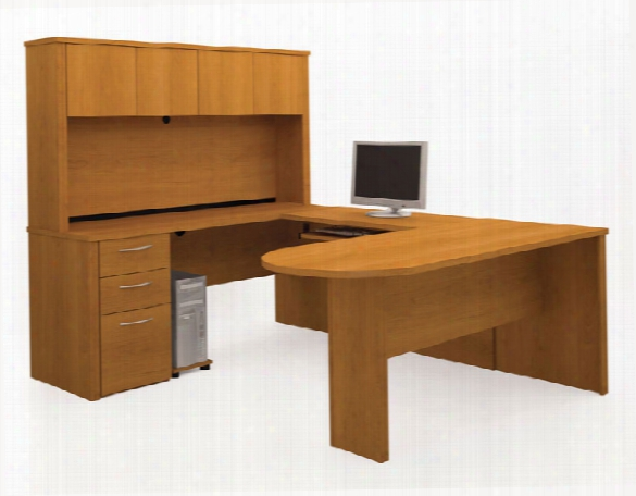 U Shaped Desk With Hutch 60856 By Bestar