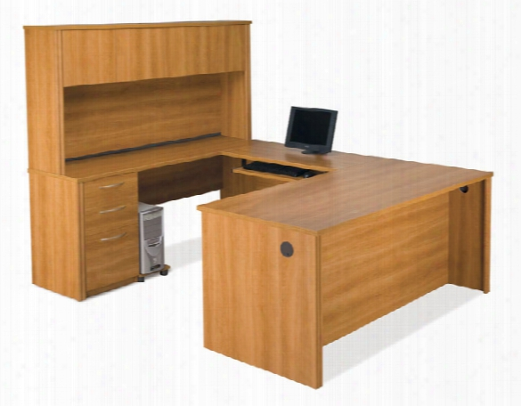 U Shaped Desk With Hutch 60857 By Bestar