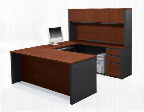U Shaped Desk With Hutch 99853 By Bestar