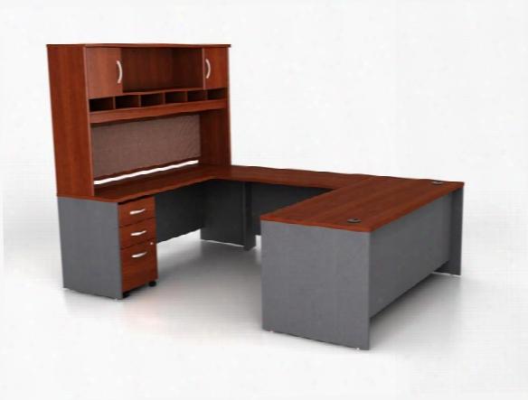 U Shaped Desk With Hutch By Bush