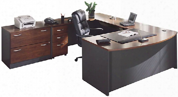 U Shaped Desk With Lateral File By Bush
