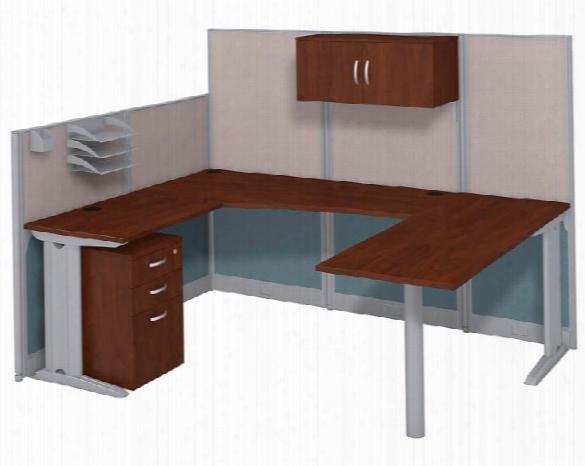 U Shaped Workstation With Storage By Bush