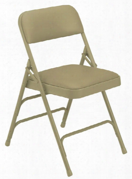 Vinyl Upholstered Premium Folding Chair With Triple Brace Double Hinge By National Public Seating