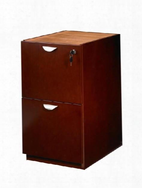 Wood Veneer 2 Drawer Pedestal For Desk By Mayline Office Furniture
