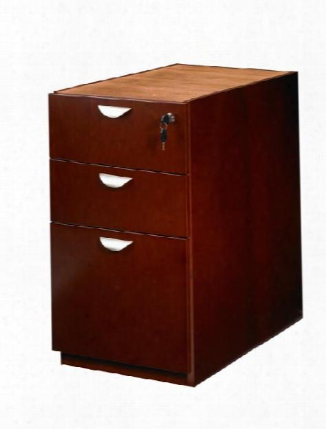 Wood Veneer 3 Drawer Pedestal For Desk By Mayline Office Furniture