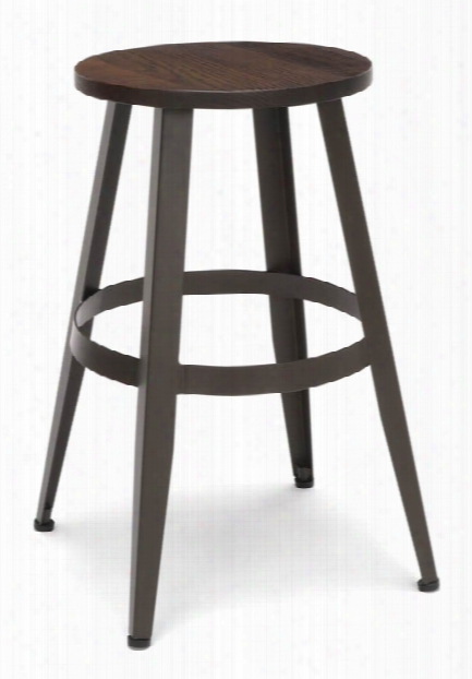 """Wooden Stool 24"""" By Ofm"""