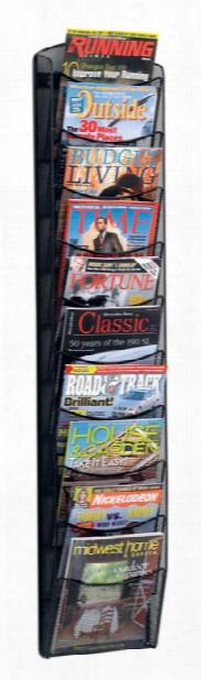 "10-pocket Onyxâ""¢ Magazine Rack By Safco Office Furniture"