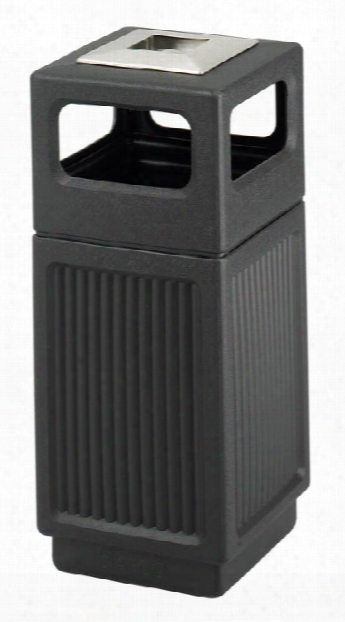 15 Gallon Ash Urn/side Open Waste Receptacle By Safco Office Furniture
