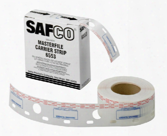 "2-1/2""w Polyester Carrier Strips For Masterfile 2 By Safco Office Furniture"