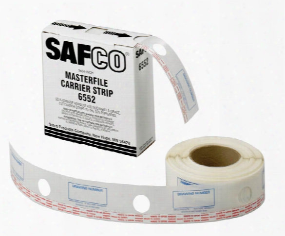 """2-1/4""""w Polyester Carrier Strips For Masterfile 2 By Safco Office Furniture"""