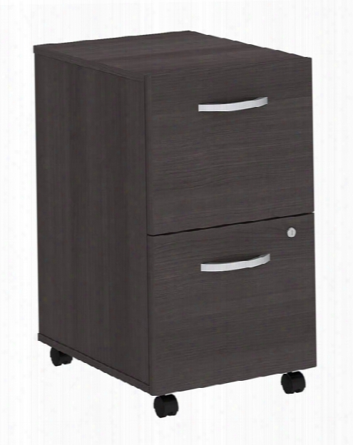 2 Drawer Mobile File Cabinet By Bush