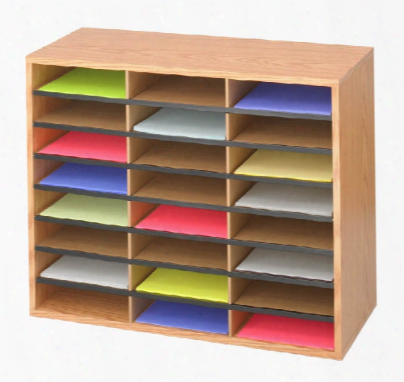 24 Compartment Wood Literature Organizeer Bby Safco Office Furniture