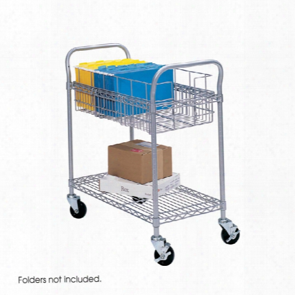 "24"" Wire Mail Cart By Safco Office Furniture"