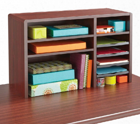"29""w Compact Desk Top Organizer By Safco Office Furniture"