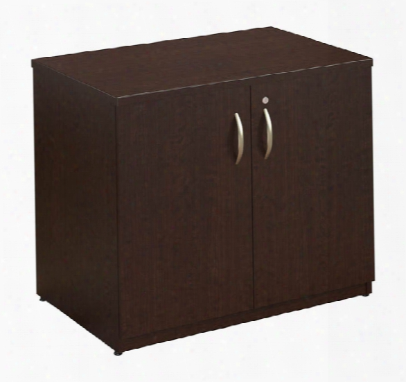 "36""w Storage Cabinet With Doors And Shelves By Bush"