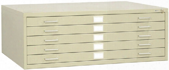 "37""w 5 Drawer Steel Flat File By Safco Office Furniture"
