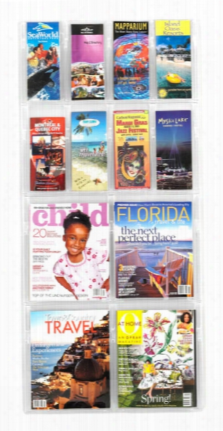 4 Magazineand 8 Pamphlet Display By Safco Office Furniture