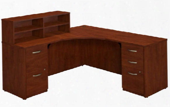 "42""w X 42""d Corner Desk With Returns And Storage By Bush"