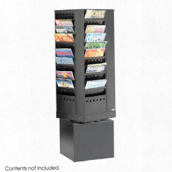 44-pocket Steel Rotary Magazine Rack By Safco Office Furniture