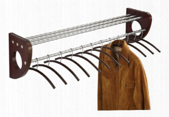 "48"" Wood Wall Coat Rack With Hangers By Safco Office Furniture"