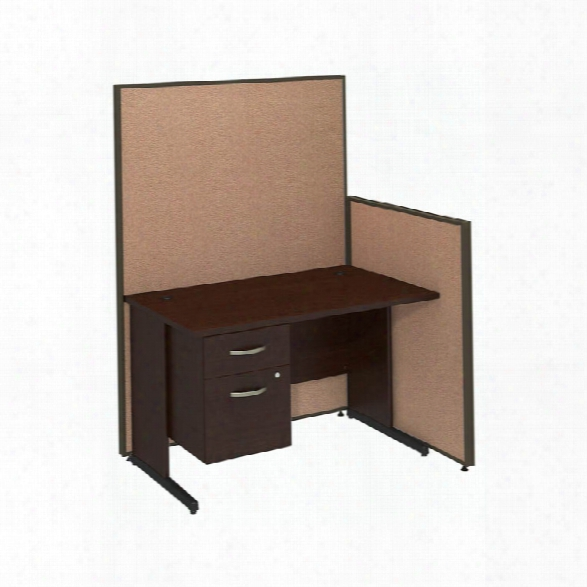 "48""w C-leg Desk With 3/4 Pedestal And Propanels By Bush"