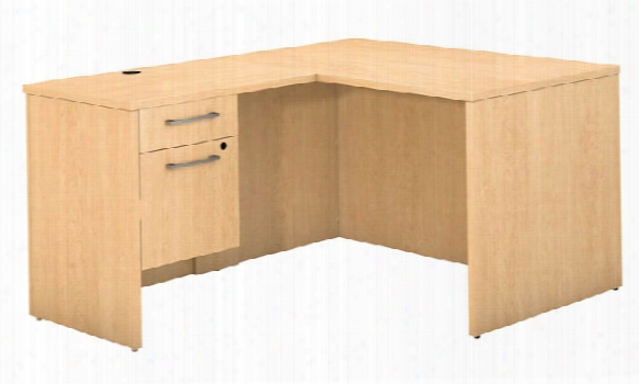 "48""w X 30""d L Shaped Office Desk With 3/4 Pedestal And Return By Bush"