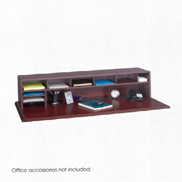 "58""w Low Profile Desk Top Organizer By Safco Office Furniture"