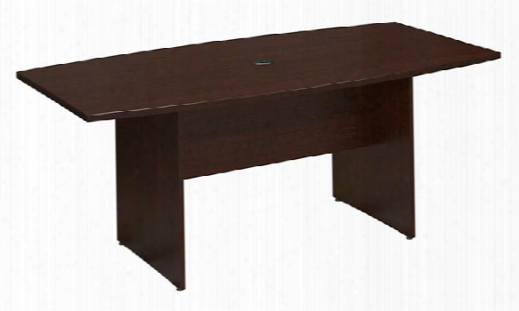 6' Boat Shaped Conference Table By Bush