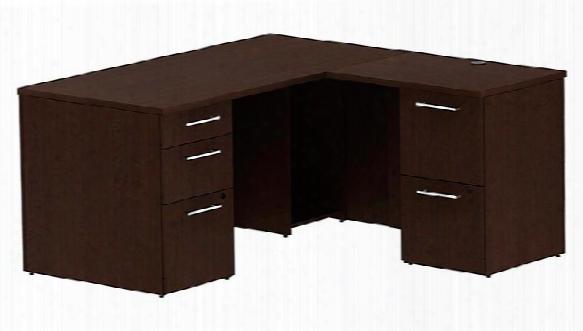"""60"""" X 60"""" L Shaped Desk By Bush"""