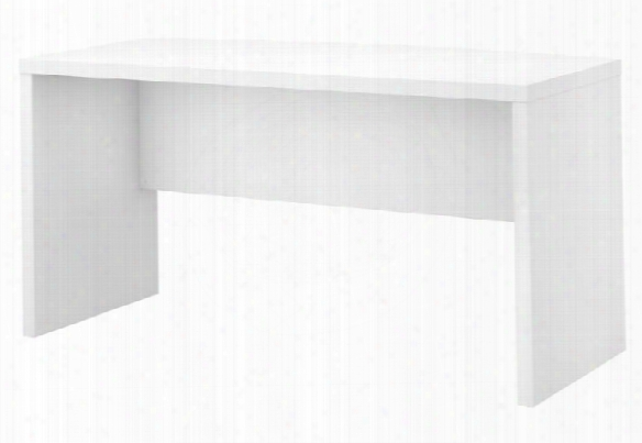"60""w Bow Front Desk By Bush"