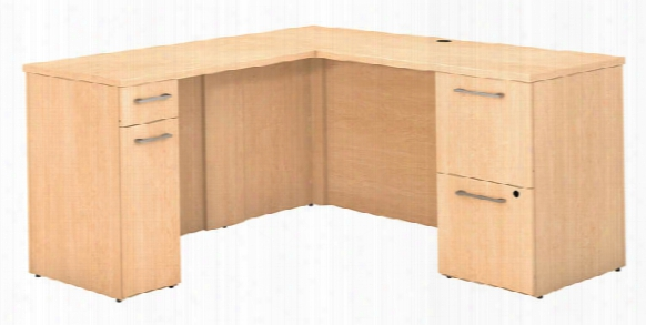 "60""w X 22""d L Shaped Desk With Storage By Bush"