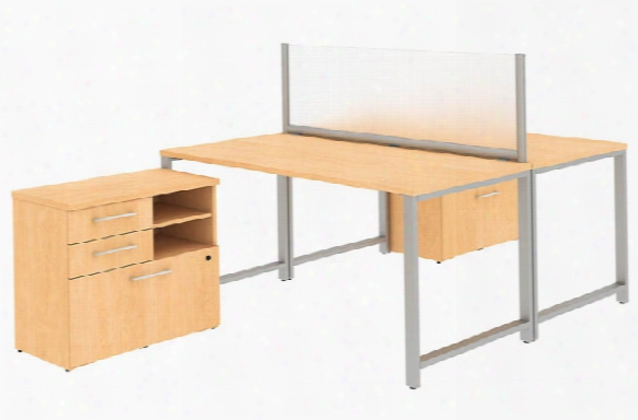 "60""w X 30""d 2 Person Workstation With Table Desks And Storage By Bush"