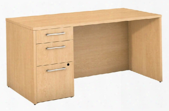 "60""w X 30""d Office Desk With 3 Drawer Pedestal By Bush"