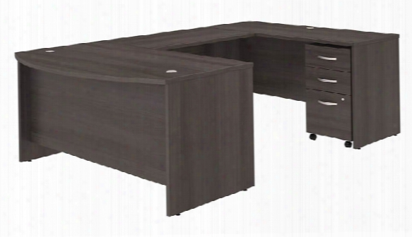 "60""w X 36""d U Shaped Desk With Mobile File Cabinet By Bush"