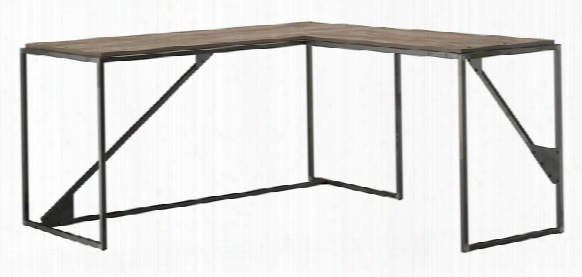 "62""w L Shaped Industrial Desk With 37""w Return By Bush"
