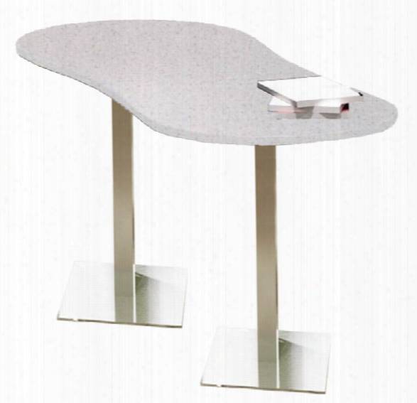 "72"" X 30"" Peanut Dining Height Table By Mayline Office Furniture"