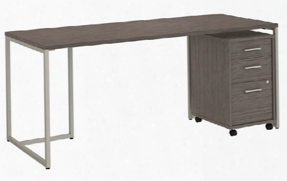 """72""""w Table Desk With 3 Drawer Mobile File Cabinet By Bush"""