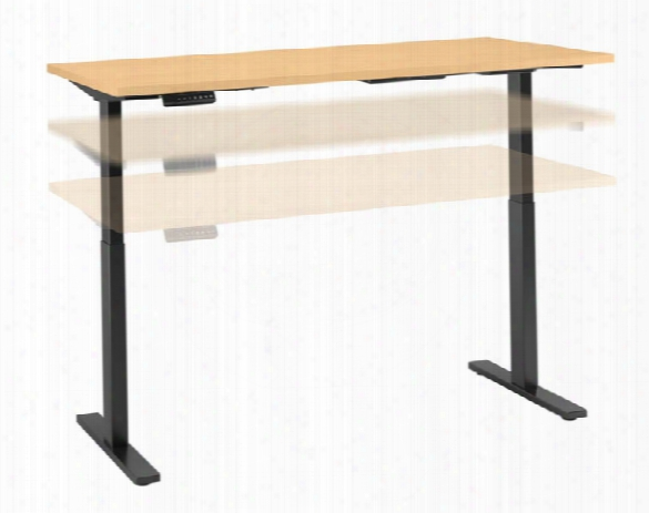 "72""w X 24""d Height Adjustable Standing Desk By Bush"