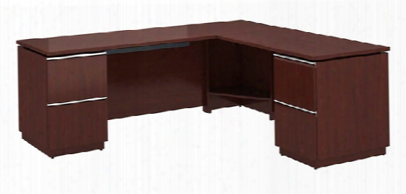 "72""w X 24""d Left-handed L Station Desk By Bush"