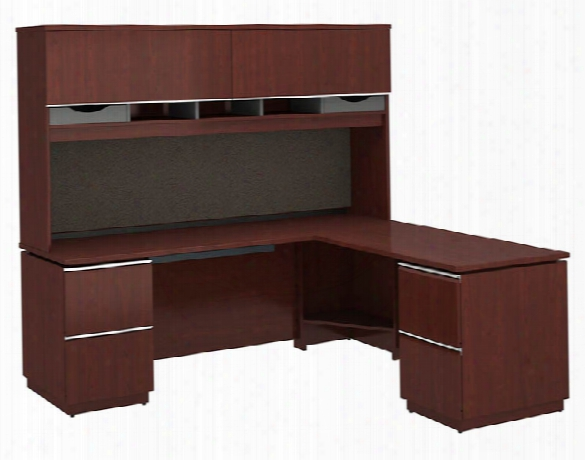 "72""w X 24""d Left-handed L Station With Hutch By Bush"