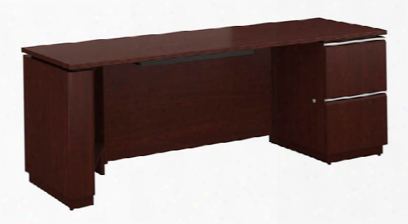 "72""w X 24""d Right-handed Single Pedestal Credenza By Bush"