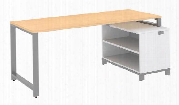 "72""w X 30""d Desk With 24""h Open Storage By Bush"
